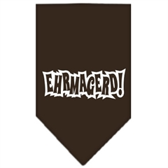 Mirage Pet Products Ehrmagerd Screen Print Bandana Cocoa Small