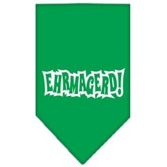 Mirage Pet Products Ehrmagerd Screen Print Bandana Emerald Green Large