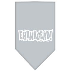 Mirage Pet Products Ehrmagerd Screen Print Bandana Grey Large