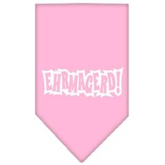 Mirage Pet Products Ehrmagerd Screen Print Bandana Light Pink Small