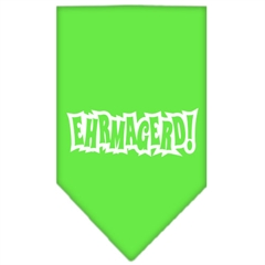 Mirage Pet Products Ehrmagerd Screen Print Bandana Lime Green Small