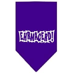 Mirage Pet Products Ehrmagerd Screen Print Bandana Purple Large
