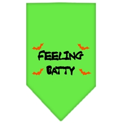Mirage Pet Products Feeling Batty Screen Print Bandana Lime Green Large