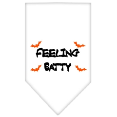 Mirage Pet Products Feeling Batty Screen Print Bandana White Small