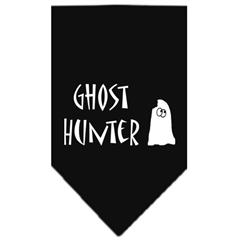 Mirage Pet Products Ghost Hunter Screen Print Bandana Black Large