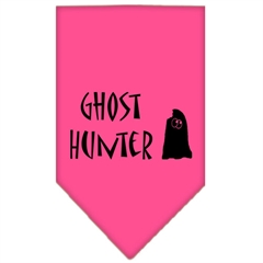 Mirage Pet Products Ghost Hunter Screen Print Bandana Bright Pink Large