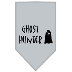 Mirage Pet Products Ghost Hunter Screen Print Bandana Grey Large