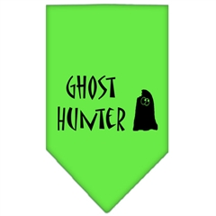 Mirage Pet Products Ghost Hunter Screen Print Bandana Lime Green Large