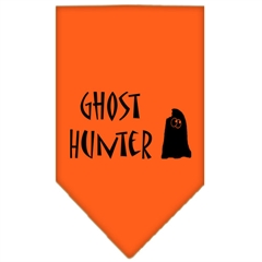 Mirage Pet Products Ghost Hunter Screen Print Bandana Orange Small