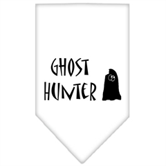 Mirage Pet Products Ghost Hunter Screen Print Bandana White Large