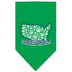 Mirage Pet Products God Bless USA Screen Print Bandana Emerald Green Large
