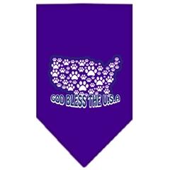 Mirage Pet Products God Bless USA Screen Print Bandana Purple Small