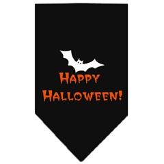 Mirage Pet Products Happy Halloween Screen Print Bandana Black Small