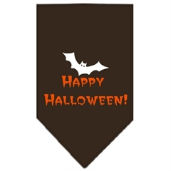 Mirage Pet Products Happy Halloween Screen Print Bandana Cocoa Large