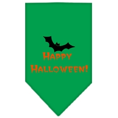Mirage Pet Products Happy Halloween Screen Print Bandana Emerald Green Large