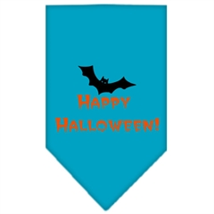 Mirage Pet Products Happy Halloween Screen Print Bandana Turquoise Small