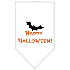 Mirage Pet Products Happy Halloween Screen Print Bandana White Small