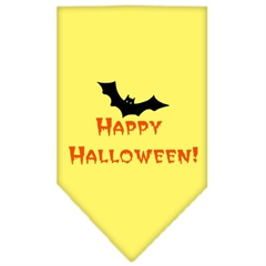 Mirage Pet Products Happy Halloween Screen Print Bandana Yellow Large