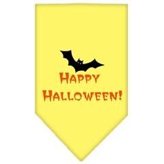 Mirage Pet Products Happy Halloween Screen Print Bandana Yellow Small