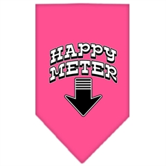Mirage Pet Products Happy Meter Screen Print Bandana Bright Pink Large