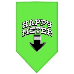 Mirage Pet Products Happy Meter Screen Print Bandana Lime Green Small