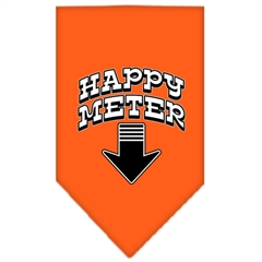 Mirage Pet Products Happy Meter Screen Print Bandana Orange Small