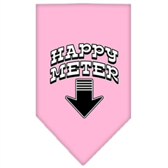 Mirage Pet Products Happy Meter Screen Print Bandana Light Pink Large