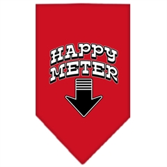 Mirage Pet Products Happy Meter Screen Print Bandana Red Small