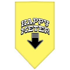 Mirage Pet Products Happy Meter Screen Print Bandana Yellow Small