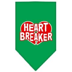 Mirage Pet Products Heart Breaker Screen Print Bandana Emerald Green Small