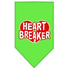 Mirage Pet Products Heart Breaker Screen Print Bandana Lime Green Small