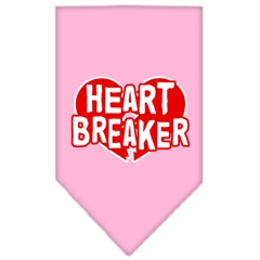 Mirage Pet Products Heart Breaker Screen Print Bandana Light Pink Large