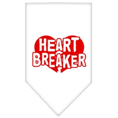 Mirage Pet Products Heart Breaker Screen Print Bandana White Small