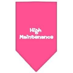 Mirage Pet Products High Maintenance Screen Print Bandana Bright Pink Large