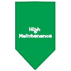 Mirage Pet Products High Maintenance Screen Print Bandana Emerald Green Large