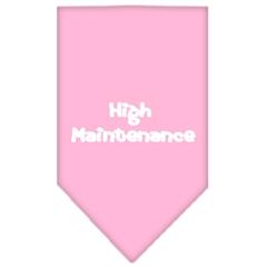 Mirage Pet Products High Maintenance Screen Print Bandana Light Pink Small