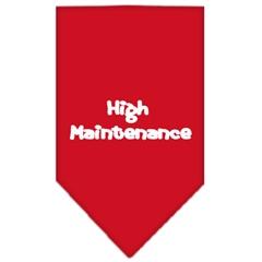 Mirage Pet Products High Maintenance Screen Print Bandana Red Large