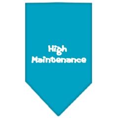Mirage Pet Products High Maintenance Screen Print Bandana Turquoise Large