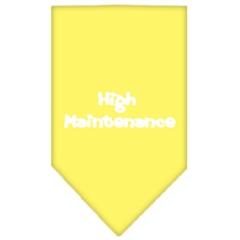 Mirage Pet Products High Maintenance Screen Print Bandana Yellow Large