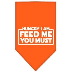 Mirage Pet Products Hungry I Am Screen Print Bandana Orange Small