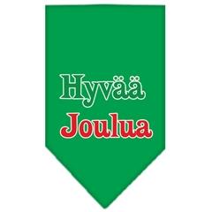 Mirage Pet Products Hyvaa Joulua Screen Print Bandana Emerald Green Large