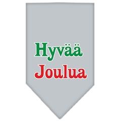 Mirage Pet Products Hyvaa Joulua Screen Print Bandana Grey Large