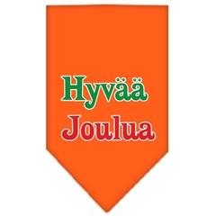 Mirage Pet Products Hyvaa Joulua Screen Print Bandana Orange Small