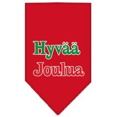 Mirage Pet Products Hyvaa Joulua Screen Print Bandana Red Small