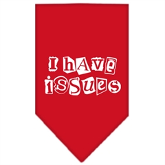 Mirage Pet Products I Have Issues Screen Print Bandana Red Large