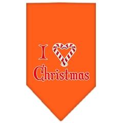 Mirage Pet Products Heart Christmas Screen Print Bandana Orange Large