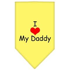Mirage Pet Products I Heart My Daddy  Screen Print Bandana Yellow Small