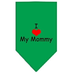 Mirage Pet Products I Heart My Mommy  Screen Print Bandana Emerald Green Small