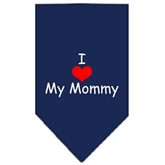 Mirage Pet Products I Heart My Mommy  Screen Print Bandana Navy Blue large