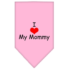 Mirage Pet Products I Heart My Mommy  Screen Print Bandana Light Pink Small